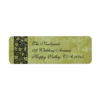 Vintage Huwelijk, de Victoriaans Bladeren van de Etiket