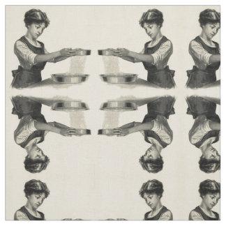 Vintage illustratie van een textiel van het stof