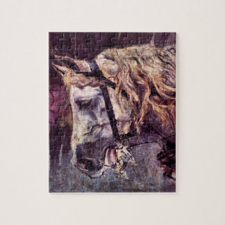 Vintage Impressionisme, Hoofd van een Paard door Puzzel