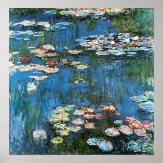 Vintage Impressionisme, Waterlilies door Claude Poster
