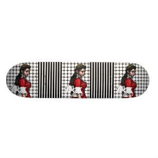 Vintage & In evenwicht gehouden Jonge Dame 18,7 Cm Mini Skateboard Deck