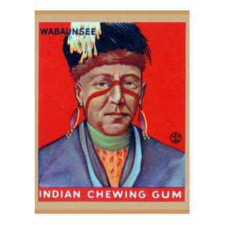 Vintage Indische Kauwgom Belangrijkste Wabaunsee Briefkaart