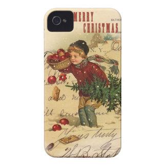 Vintage iphone 4 van Kerstmis Dekking iPhone 4 Hoesje