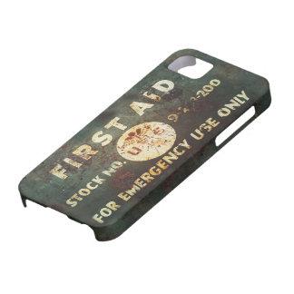 Vintage iPhone 5 van de Eerste hulp van WO.II Geva Case-Mate iPhone 5 Hoesjes