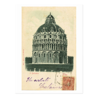 Vintage Italië, 1901, Pisa, Duomo, Doopkapel Briefkaart