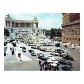 Vintage Italië, Rome, Piazza Venezia Briefkaart
