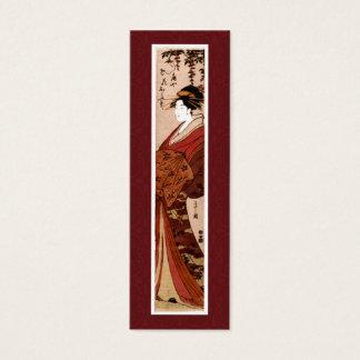 Vintage Japans het Schilderen Visitekaartje Mini Visitekaartjes