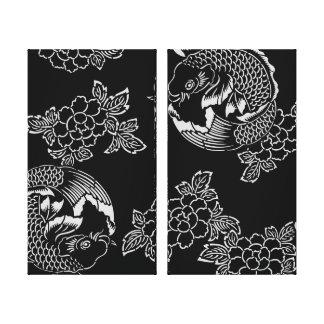 Vintage Japans Tattoo Koi (Karper) Canvas Print