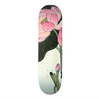 Vintage Japanse Fijne Kunst | de Bloem van Lotus 20,6 Cm Skateboard Deck