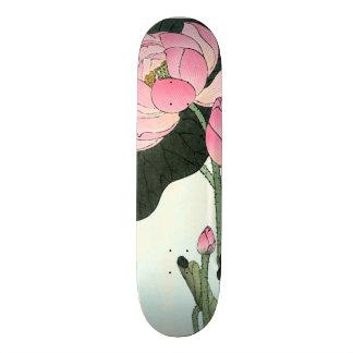 Vintage Japanse Fijne Kunst | de Bloem van Lotus Skate Deck