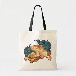 Vintage Japanse Leeuw (detail) Draagtas