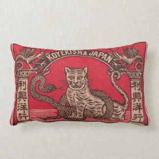 Vintage Japanse lucifersdoosjedekking Lumbar Kussen