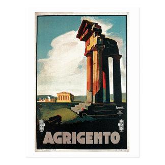 Vintage jaren '20Agrigento Italiaanse reis Briefkaart