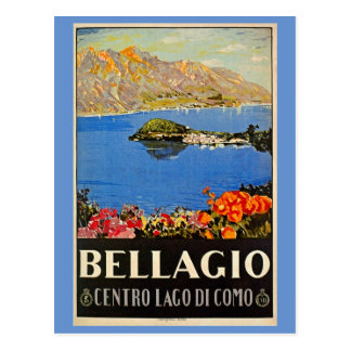 Vintage jaren '20Bellagio Italiaanse Briefkaart
