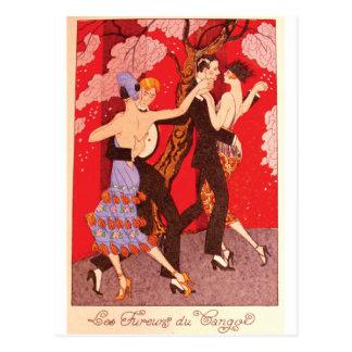 Vintage Jugendstil ~ de Woede van Tango Briefkaart