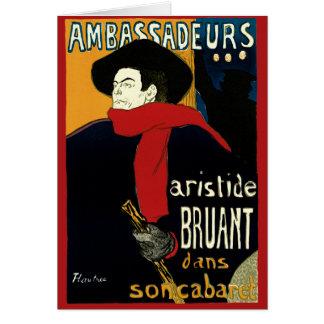 Vintage Jugendstil door Henri DE Toulouse Lautrec Wenskaart