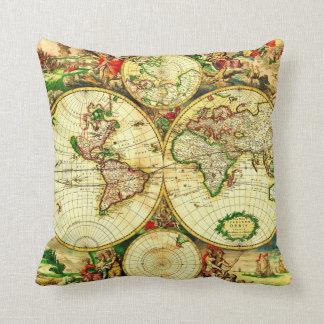 Het van de wereldkaart kussens het van de wereldkaart sierkussens online bestellen - Thuis kussens van de wereld ...