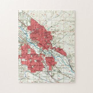 Vintage Kaart van Boise Idaho (1954) Puzzel