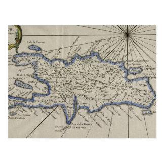 Vintage Kaart van de Dominicaanse Republiek (1750)