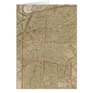 Vintage Kaart van de Stad Missouri van Kansas