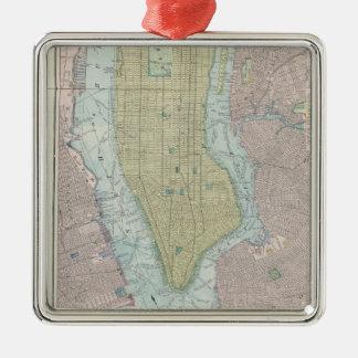 Vintage Kaart van de Stad van New York (1901) Kerstboom Ornamenten