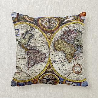 Oude wereldkaart kussens oude wereldkaart sierkussens online bestellen - Thuis kussens van de wereld ...