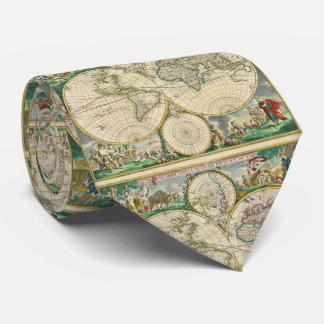 Gepersonaliseerde oude wereldkaarten stropdassen - Vintage bank thuis van de wereld ...