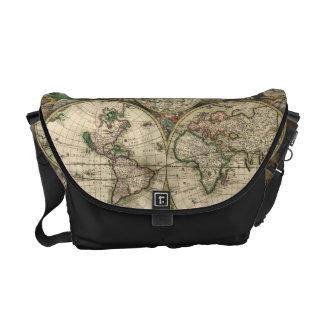 Wereldkaart tassen wereldkaart draagtassen wereldkaart canvas tassen - Vintage bank thuis van de wereld ...