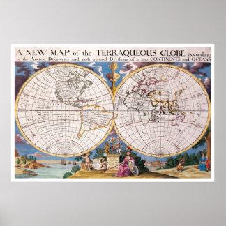 Vintage wereldkaart posters vintage wereldkaart afdrukken kunst vintage wereldkaart afdrukken - Vintage bank thuis van de wereld ...