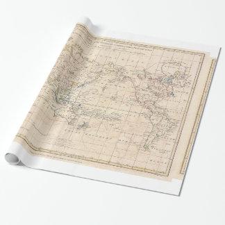 Oude wereldkaart cadeaupapier oude wereldkaart inpakpapier designs - Vintage bank thuis van de wereld ...