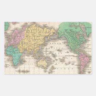 Wereldkaart stickers - Vintage bank thuis van de wereld ...