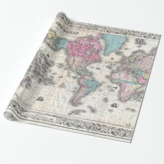 Wereld kaart cadeaupapier wereld kaart inpakpapier designs - Vintage bank thuis van de wereld ...