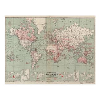 Wereldkaart briefkaarten wereldkaart ansichtkaarten - Vintage bank thuis van de wereld ...
