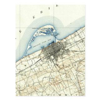 Vintage Kaart van Erie Pennsylvania (1899)