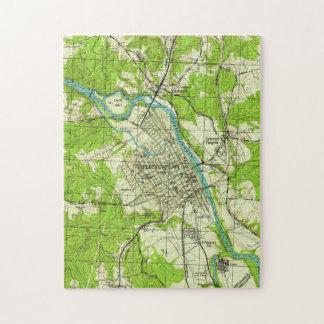 Vintage Kaart van Fredericksburg Virginia (1944) Legpuzzel