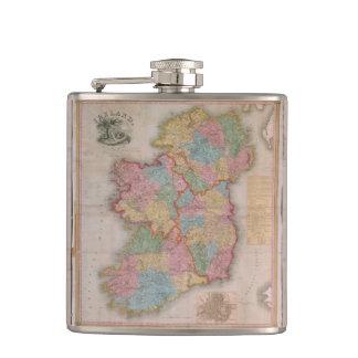 Vintage Kaart van Ierland (1835) Heupfles