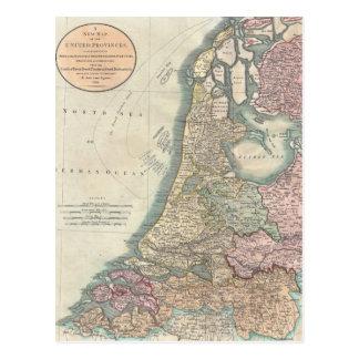 Vintage Kaart van Nederland (1799) Briefkaart