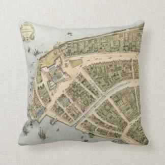 Vintage Kaart van Nieuw Amsterdam (1660) Sierkussen