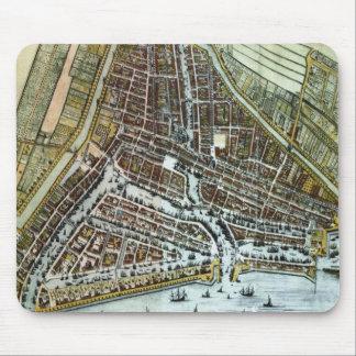Vintage Kaart van Rotterdam Nederland (1649) Muismat