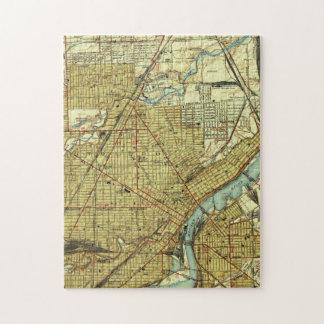 Vintage Kaart van Toledo Ohio (1938) Puzzel