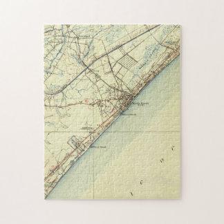 Vintage Kaart van Van het Zuid- strand van de Puzzel