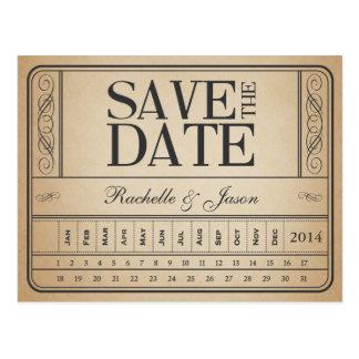 Vintage Kaartje II -- Sparen de datumstempel uit Briefkaart
