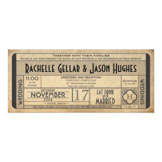 Vintage Kaartje IV jaren '40era 2.0 van het 10,2x23,5 Uitnodiging Kaart