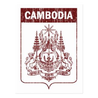 Vintage Kambodja Briefkaart