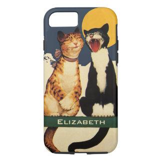 Vintage Katten, Grappige en Gekke Dieren die iPhone 8/7 Hoesje