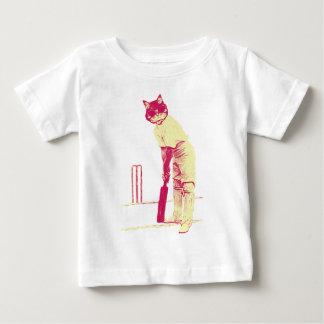 vintage kattencricketspeler baby t shirts