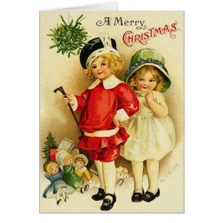 Vintage Kerstkaart Wenskaart