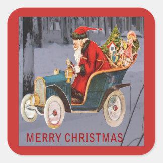 Vintage Kerstman die, de Moderne Sticker van de