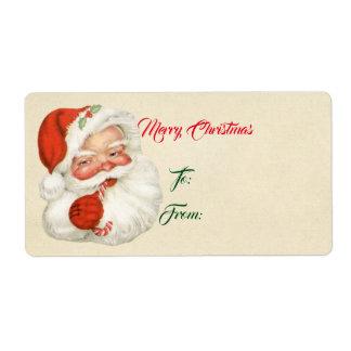 Vintage Kerstman Etiket