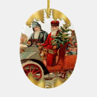 Vintage Kerstman in het Ornament van Kerstmis van